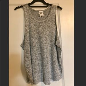Free People Gray Slouchy Tank